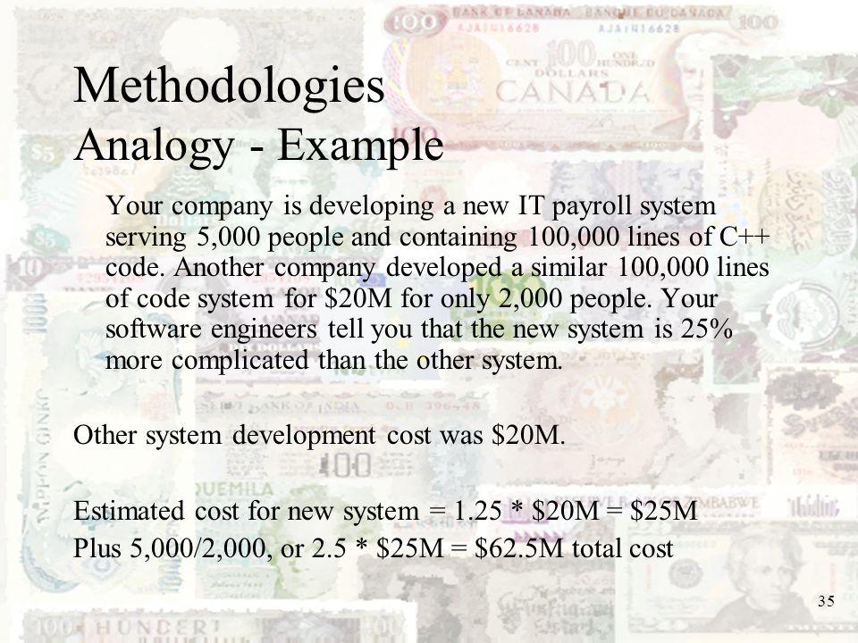 Methodologies Analogy - Example