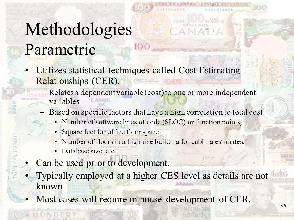 Methodologies Parametric