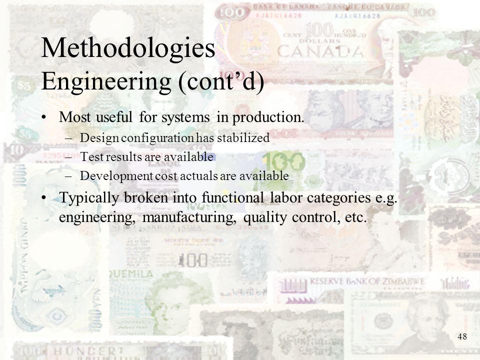 Methodologies Engineering (cont'd)
