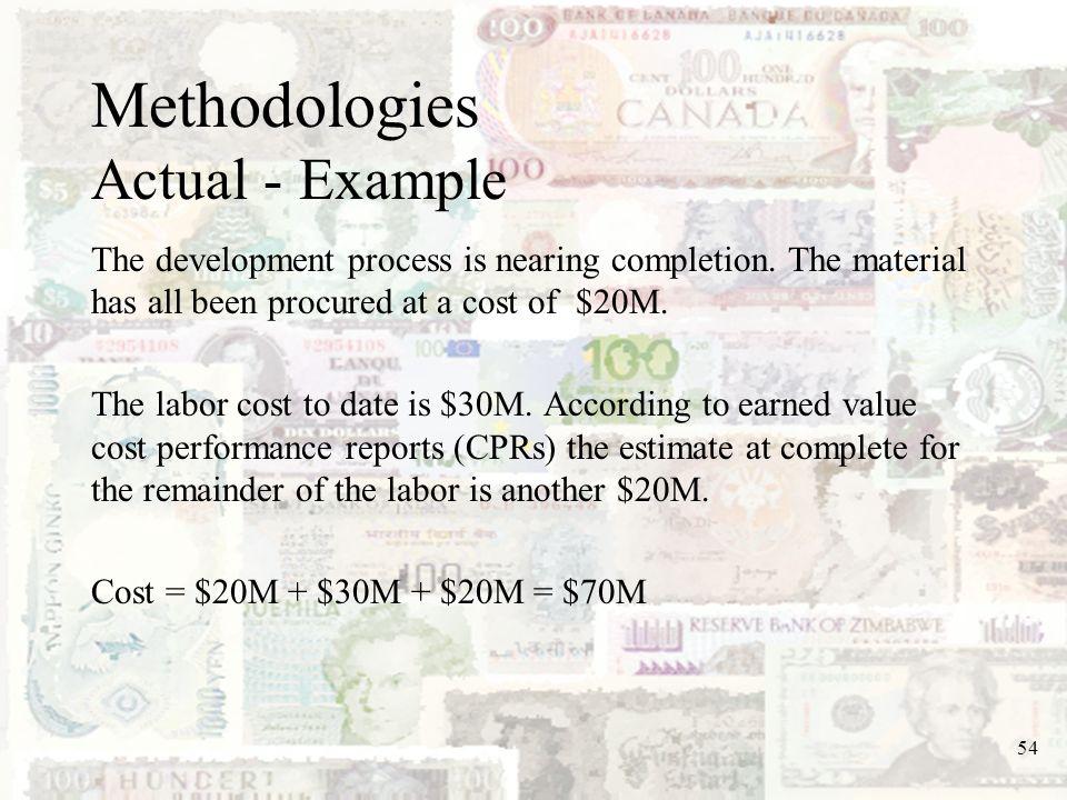 Methodologies Actual - Example