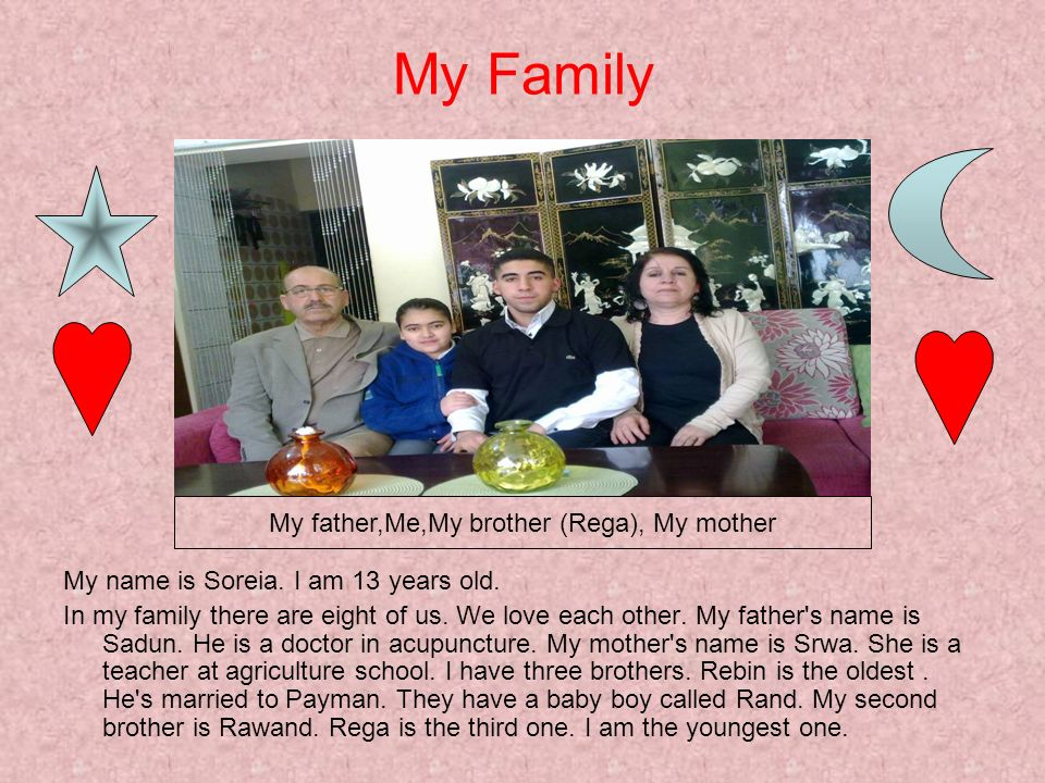 My father,Me,My brother (Rega), My mother