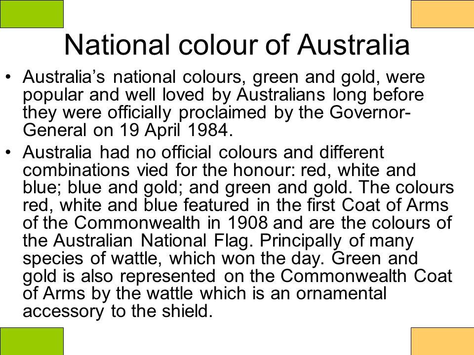 National colour of Australia