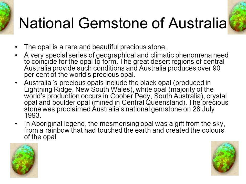 National Gemstone of Australia