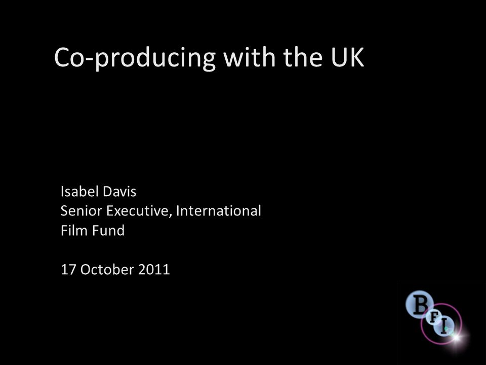 Co-producing with the UK