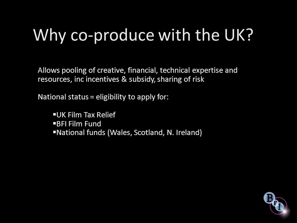Why co-produce with the UK