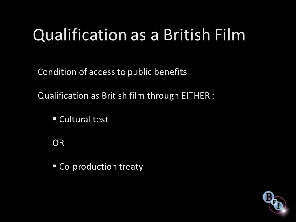 Qualification as a British Film