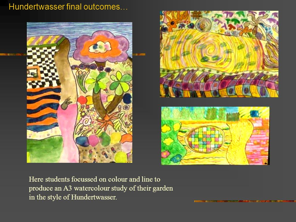 Hundertwasser final outcomes…