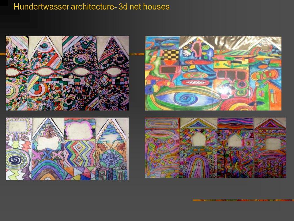 Hundertwasser architecture- 3d net houses