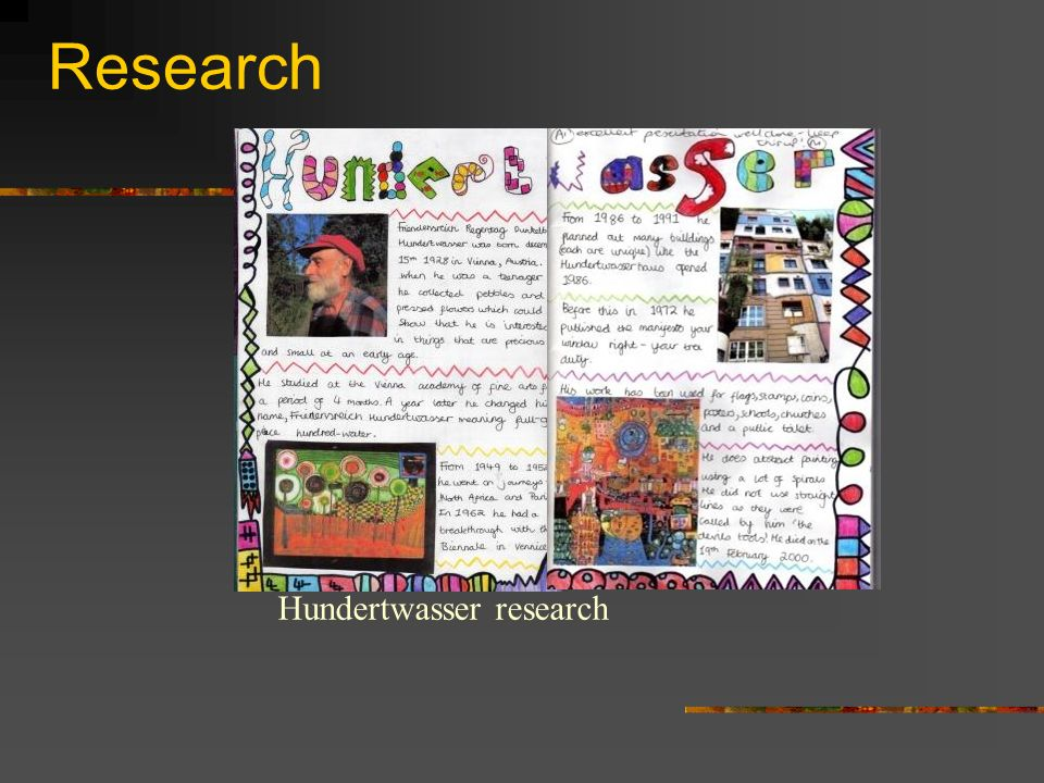 Research Hundertwasser research