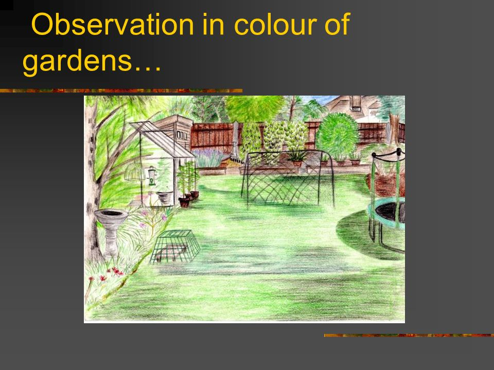 Observation in colour of gardens…