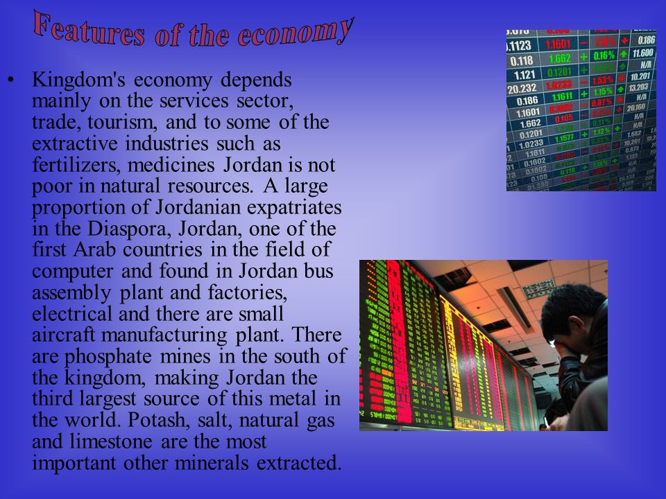 Features of the economy