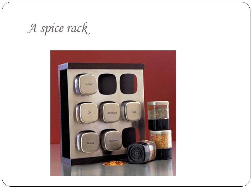 A spice rack