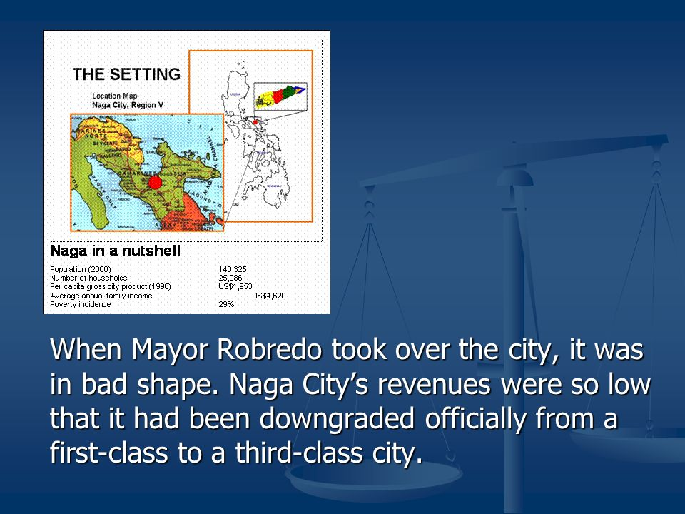 When Mayor Robredo took over the city, it was in bad shape