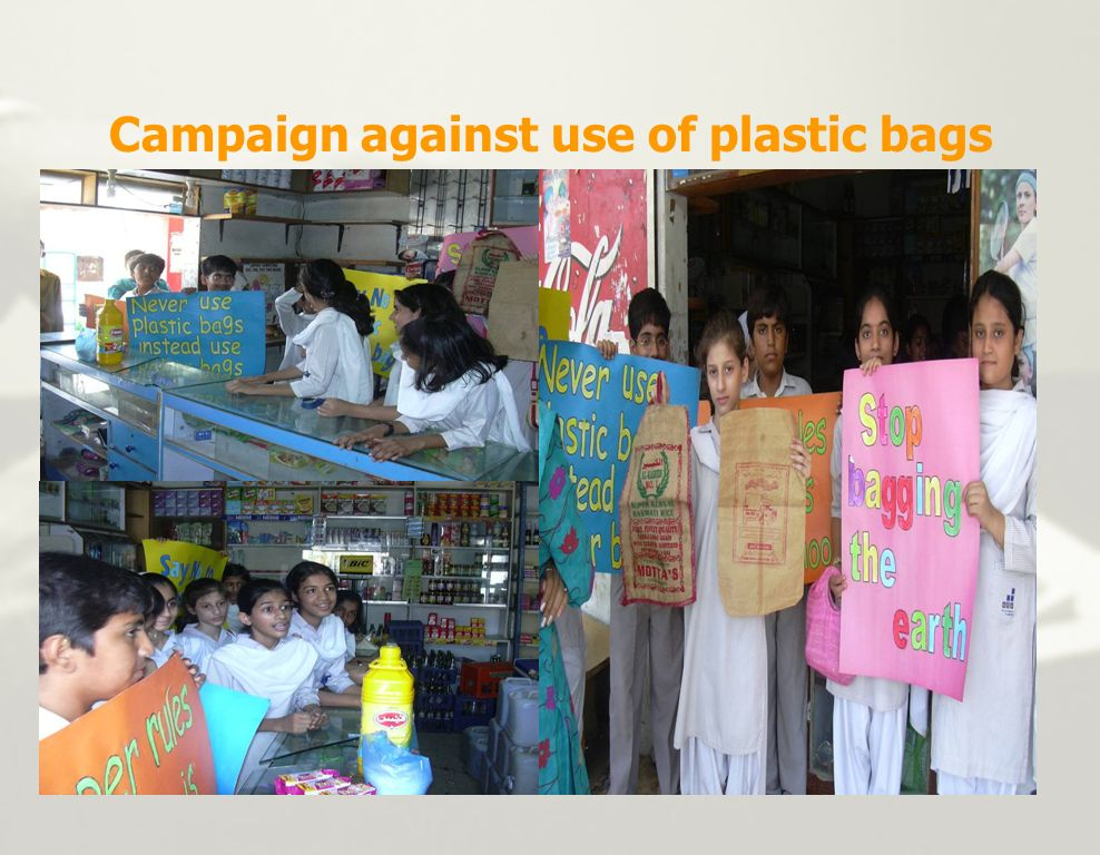Campaign against use of plastic bags