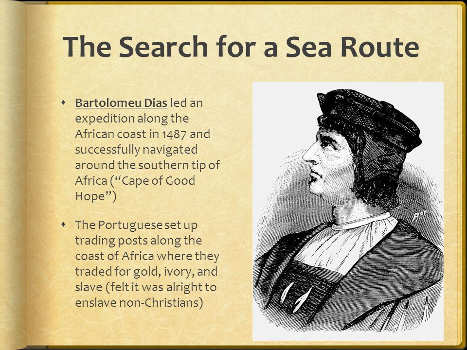 The Search for a Sea Route