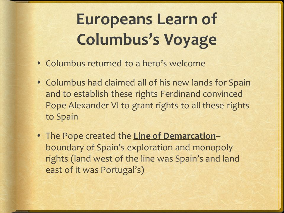 Europeans Learn of Columbus's Voyage