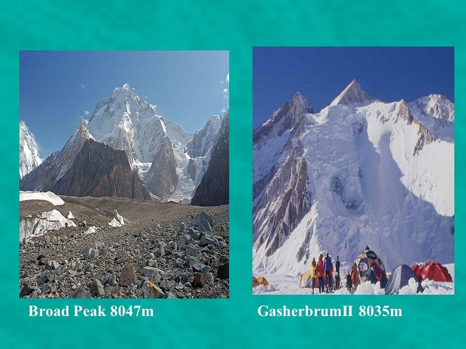Broad Peak 8047m GasherbrumII 8035m