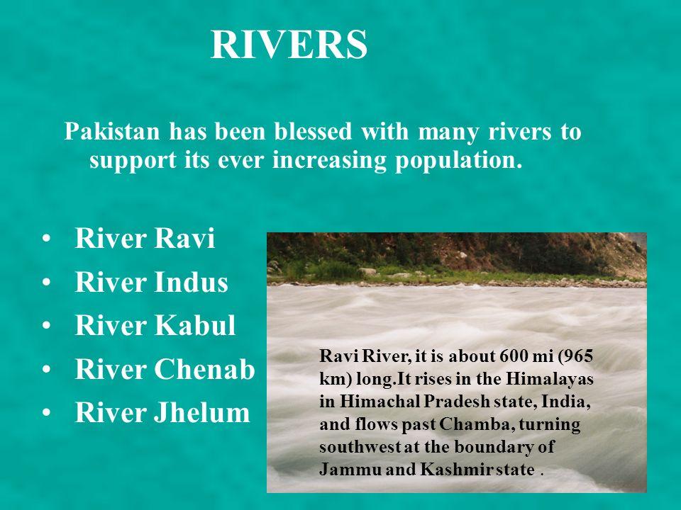 RIVERS River Ravi River Indus River Kabul River Chenab River Jhelum