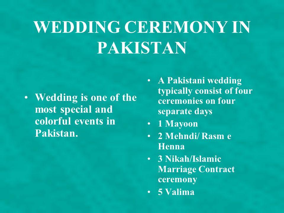 WEDDING CEREMONY IN PAKISTAN