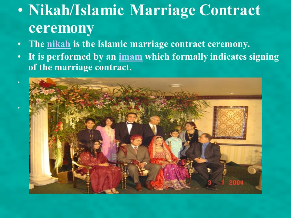 Nikah/Islamic Marriage Contract ceremony