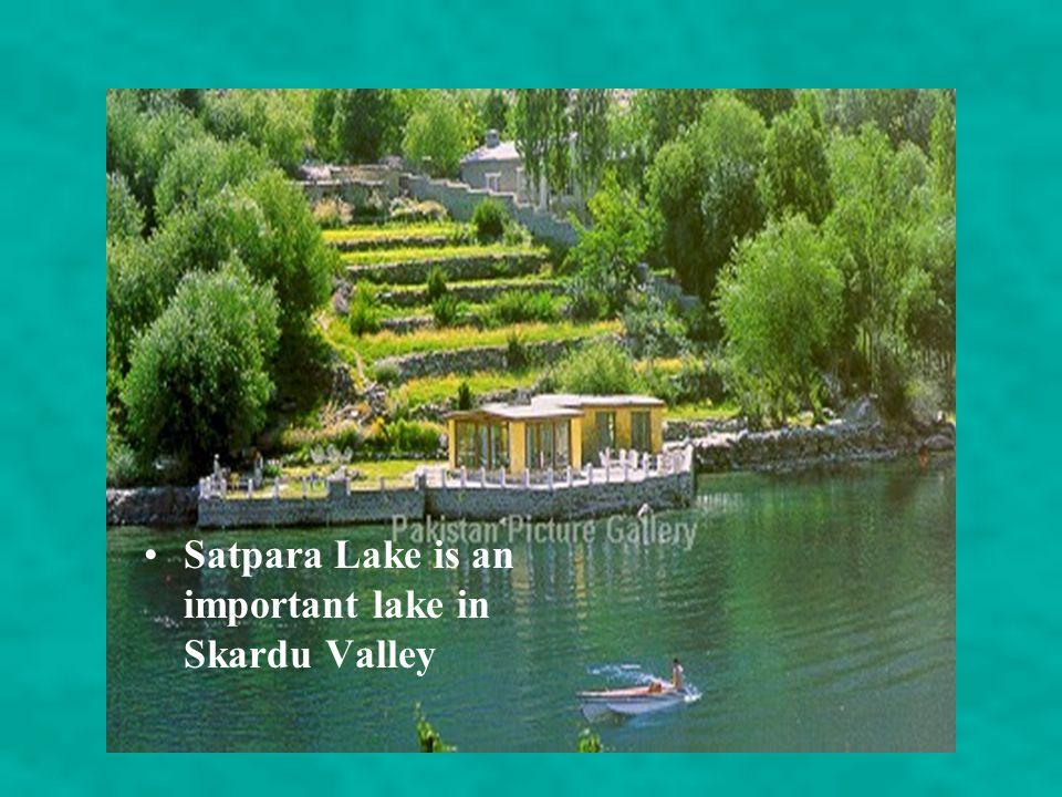 Satpara Lake is an important lake in Skardu Valley