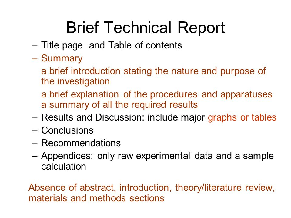 asme writing a technical paper or brief