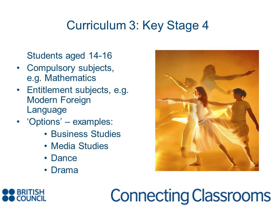 Curriculum 3: Key Stage 4 Students aged 14-16