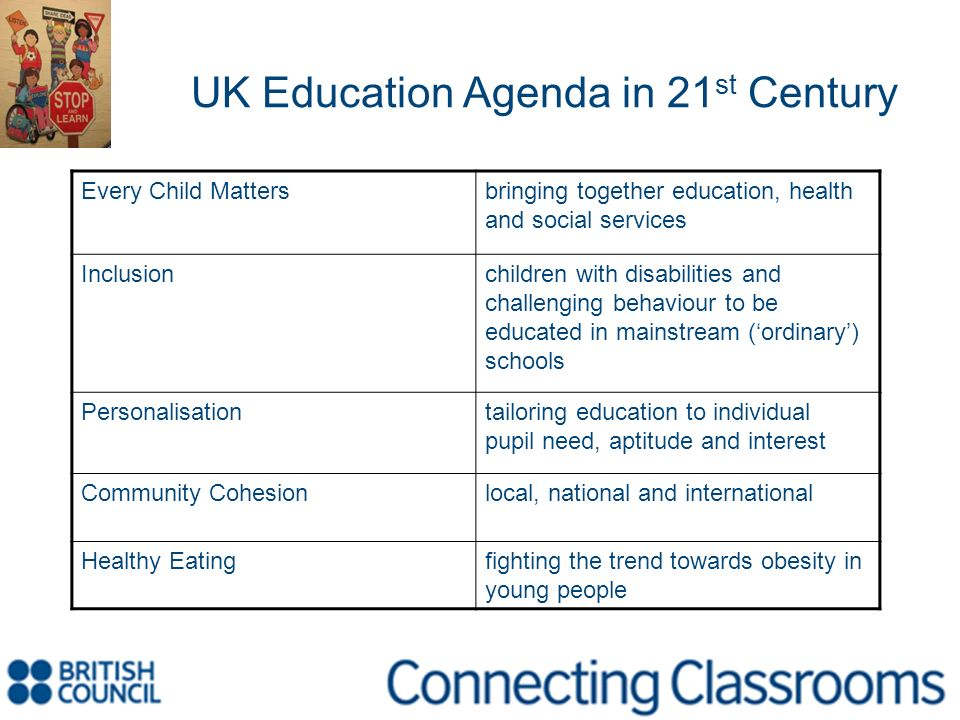 UK Education Agenda in 21st Century