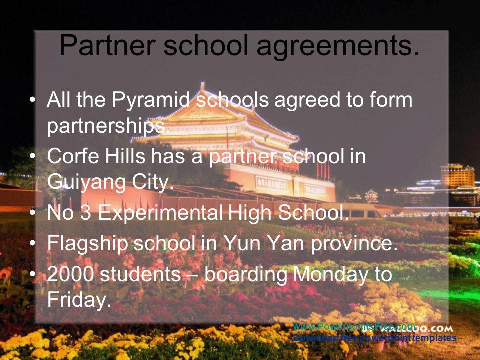 Partner school agreements.