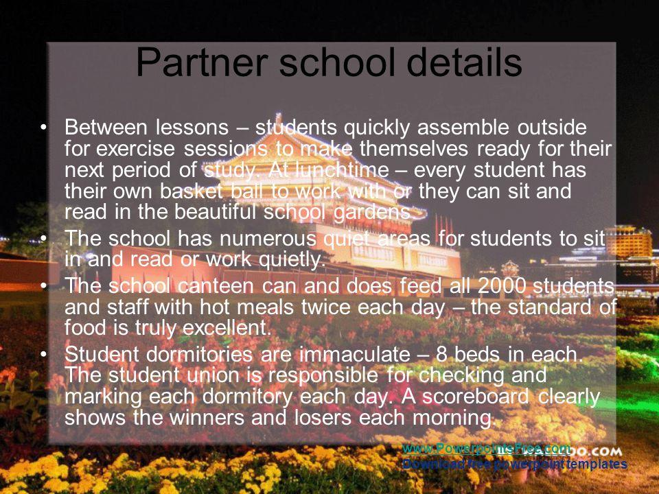 Partner school details