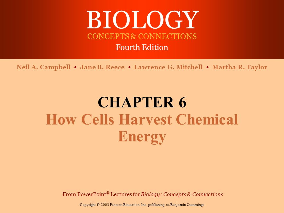 how cells harvest chemical energy Chapter 6 cell energy [compatibility mode] 1 chapter 6 how cells harvest  chemical energy powerpoint lectures for biology: concepts.
