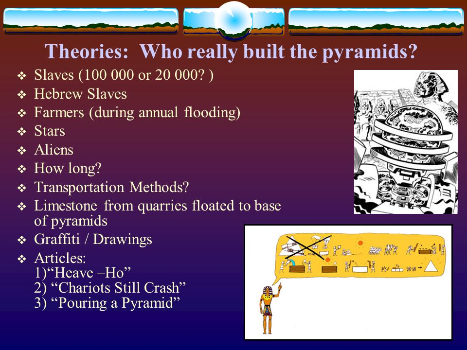 Theories: Who really built the pyramids