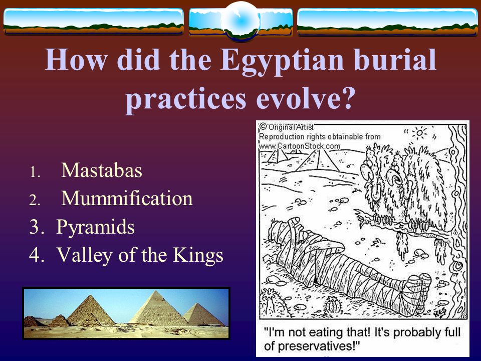 How did the Egyptian burial practices evolve