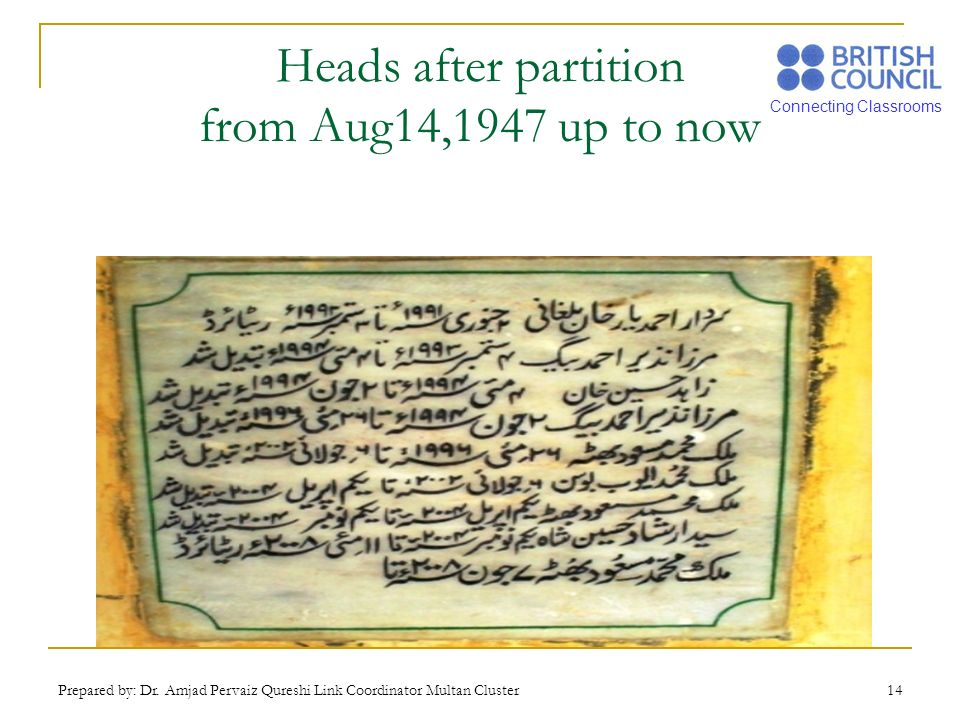 Heads after partition from Aug14,1947 up to now