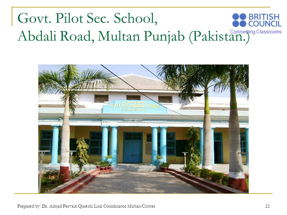 Govt. Pilot Sec. School, Abdali Road, Multan Punjab (Pakistan.)