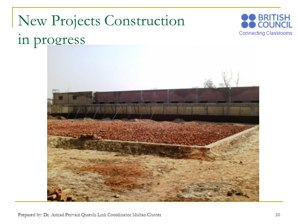 New Projects Construction in progress