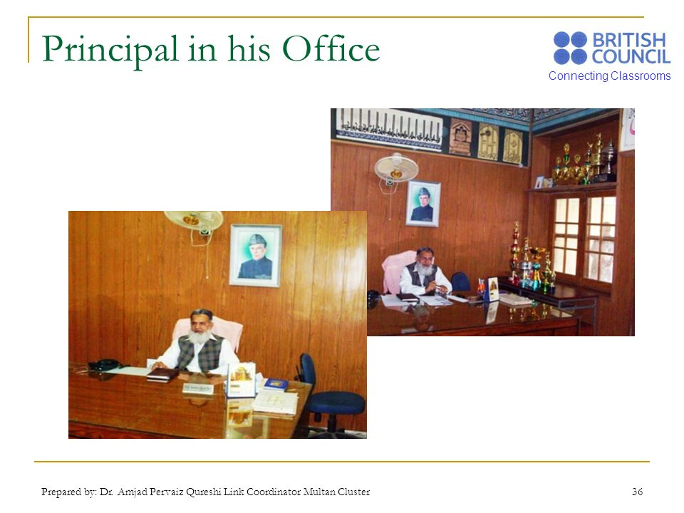 Principal in his Office