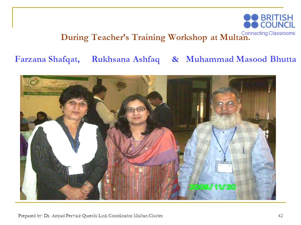 During Teacher's Training Workshop at Multan