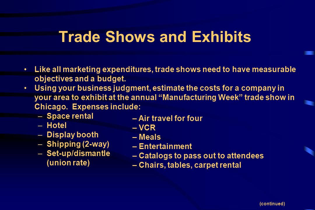 Trade Show Booth Objectives : Chapter professional selling ppt video online download
