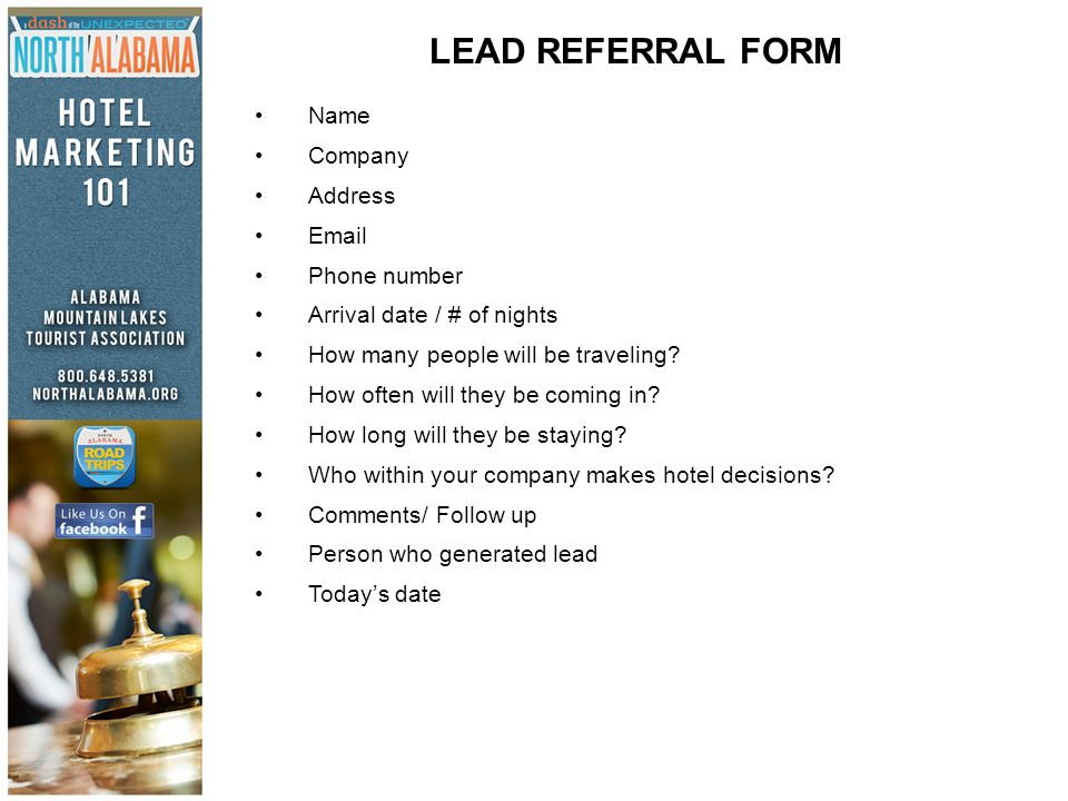 2010 Hotel Lead Referral Program - Www imagez co