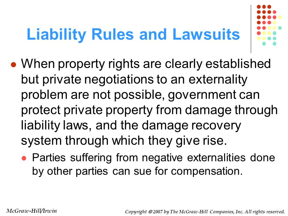 Liability Rules and Lawsuits