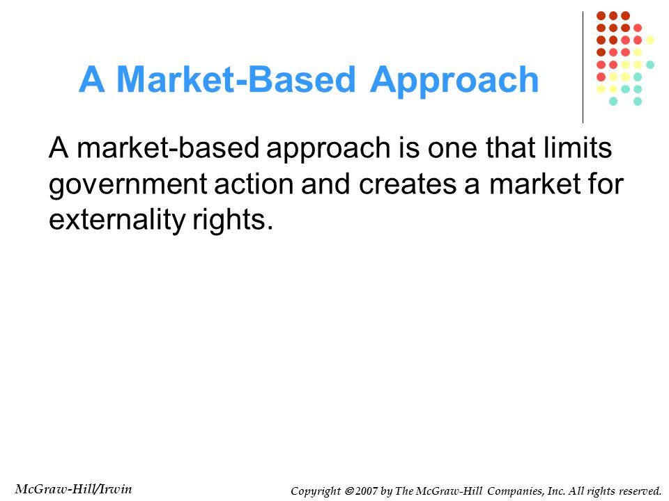 A Market-Based Approach