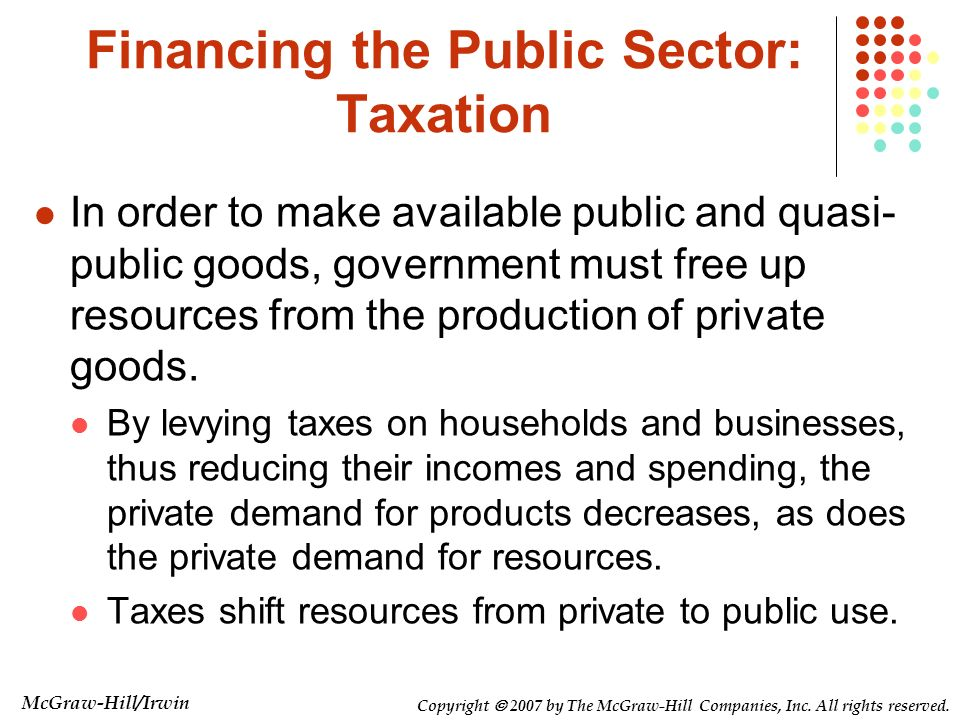 Financing the Public Sector: Taxation