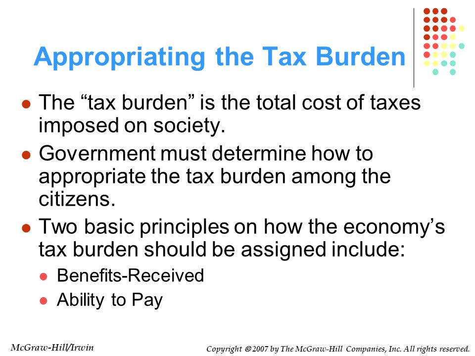 Appropriating the Tax Burden