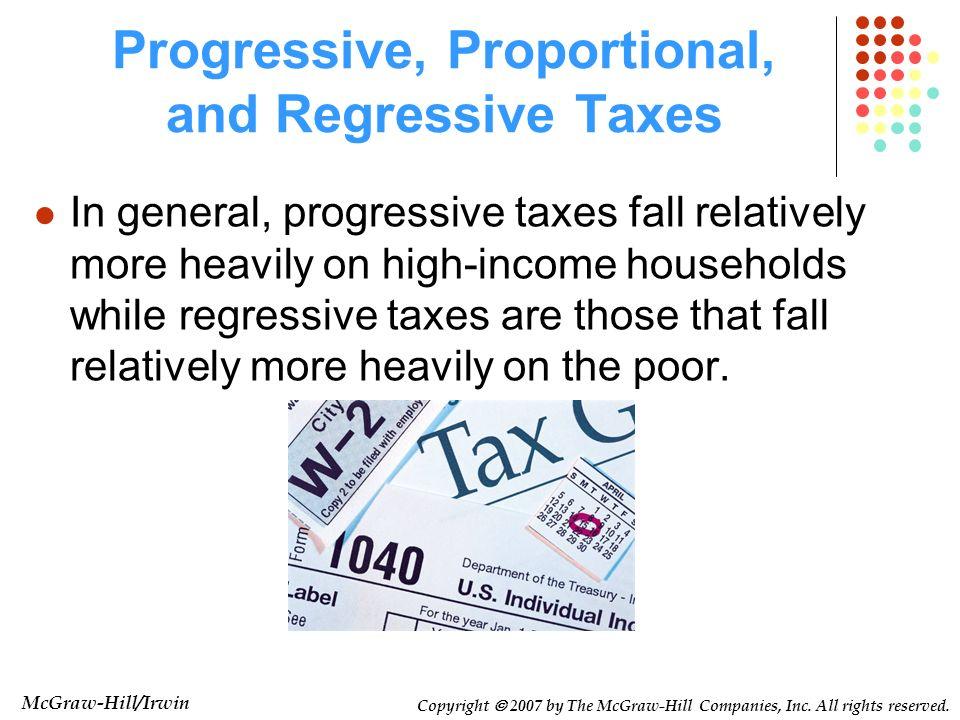 Progressive, Proportional, and Regressive Taxes