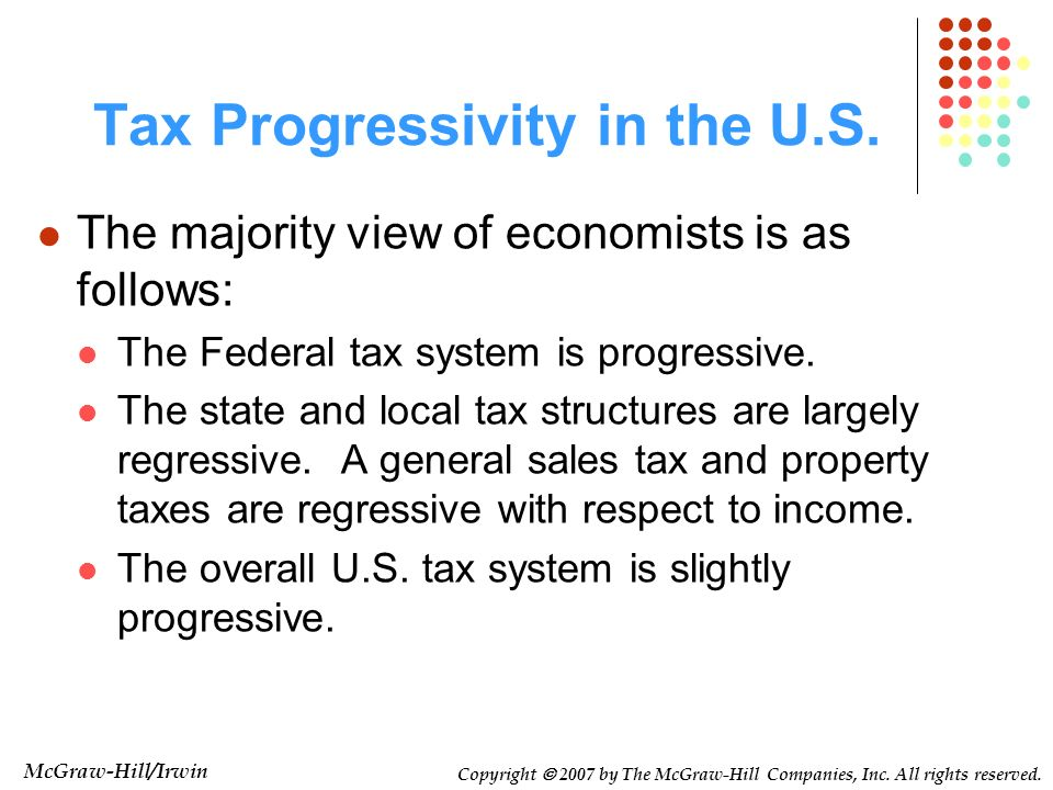 Tax Progressivity in the U.S.