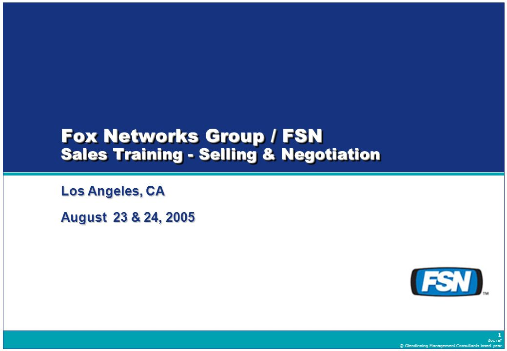 Fox Networks Group / FSN Sales Training - Selling & Negotiation ...