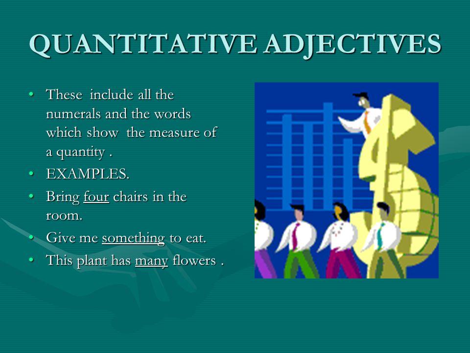 QUANTITATIVE ADJECTIVES