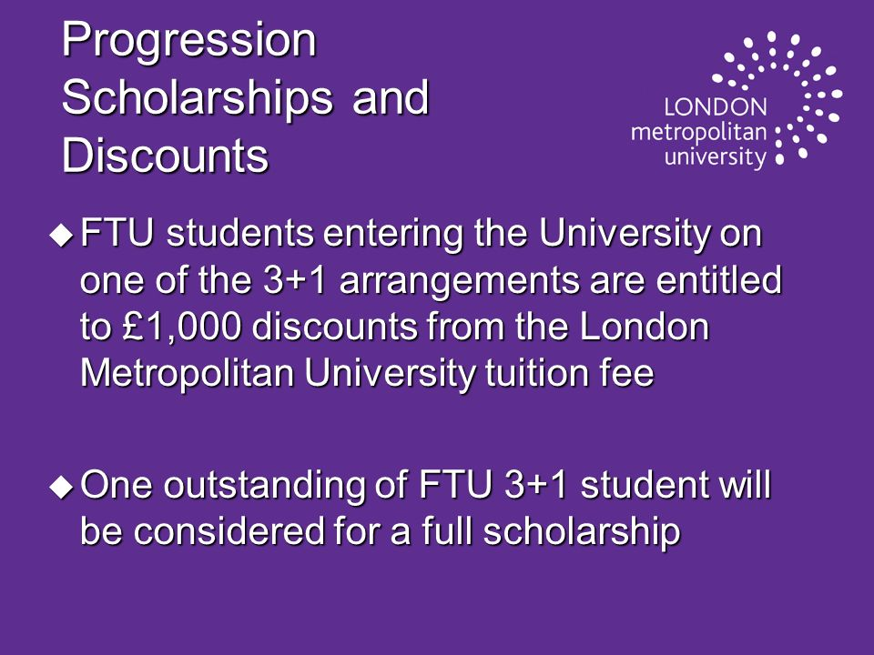 Progression Scholarships and Discounts