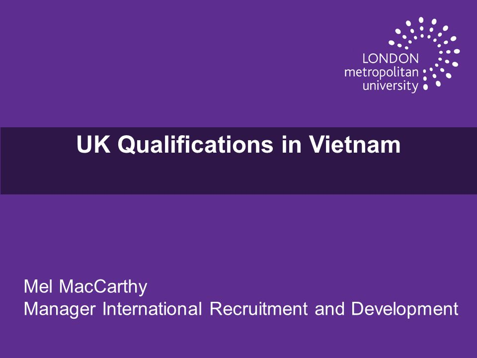 UK Qualifications in Vietnam